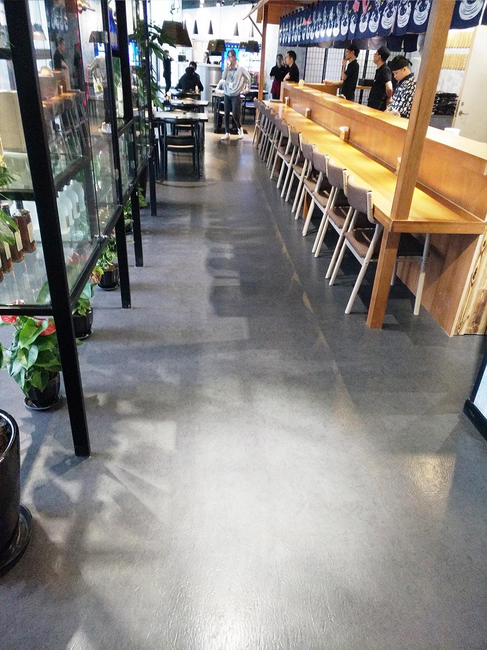 五角场喜多坊,餐厅PVC地板工程施工